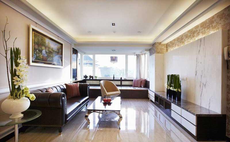 混搭实用客厅设计效果图