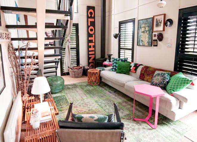 复古彩色混搭客厅