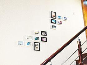 照片新去处 12款楼梯照片墙
