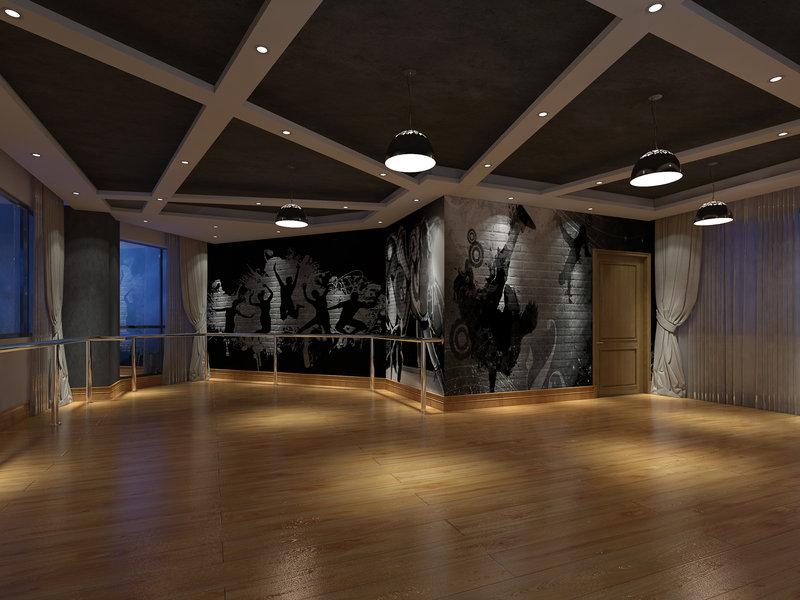米以上简约跃层装修效果图,舞蹈培训中心装修案例效果图 齐家装修高清图片
