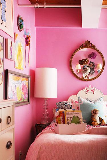 可爱卧室照片墙