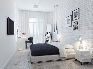 简约卧室照片墙