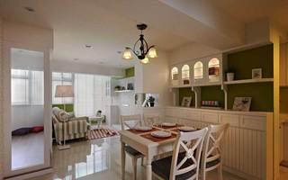 田园风格二居室温馨60平米设计图纸
