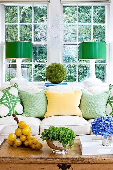 绿色客厅绿植布置