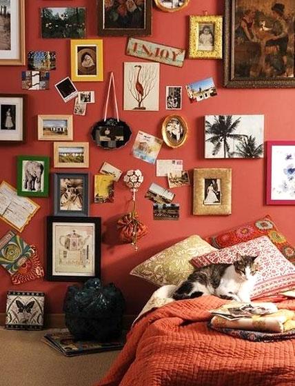 可爱红色系女生卧室设计