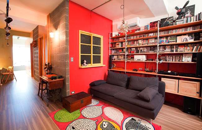 朝气红色客厅设计