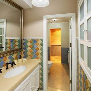 美式清新洗手台设计效果图