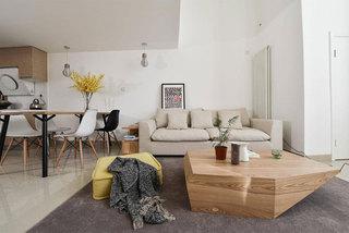 简约风格二居室原木色100平米装修效果图