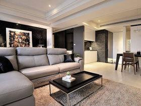 细腻空间处理 100平现代三居