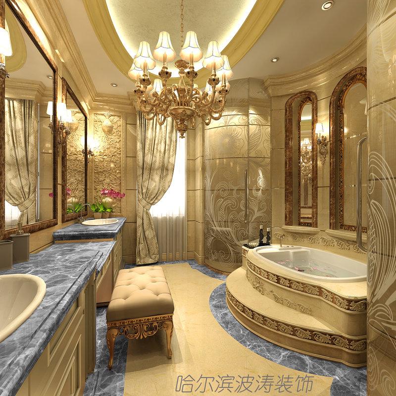 20万以上130平米欧式三居室装修效果图,简欧风格装修图片