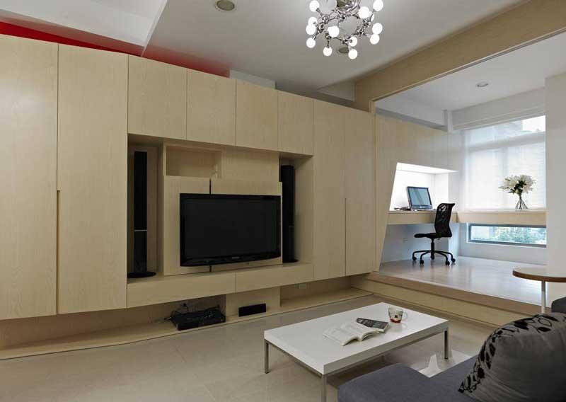 现代温馨电视背景墙设计效果图