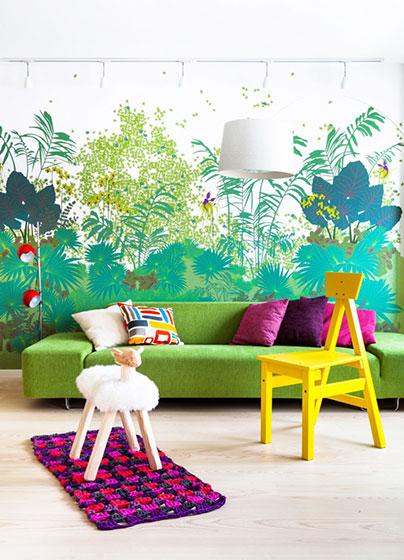 绿色客厅壁纸