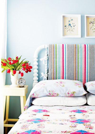 蓝色系卧室设计