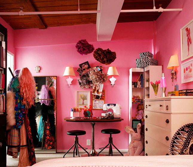 粉色卧室空间