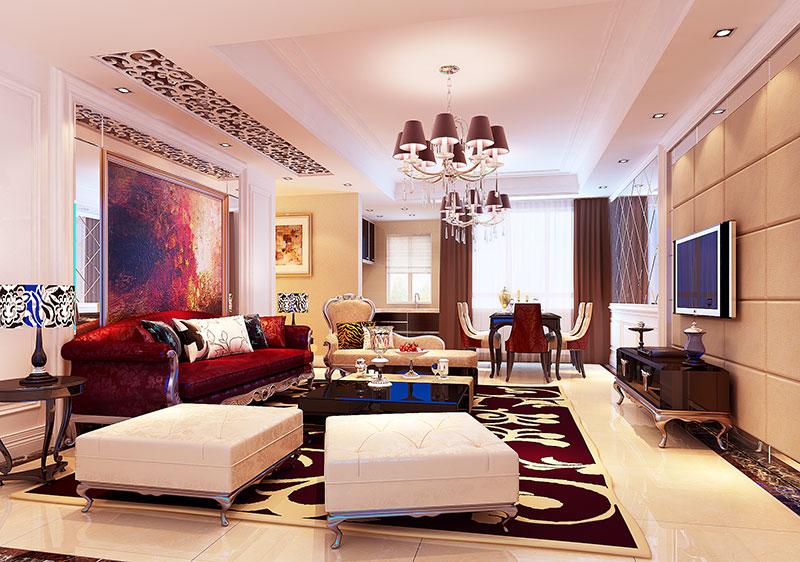 奢华红色沙发