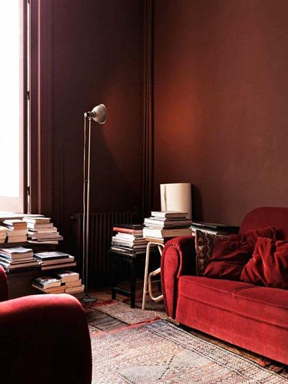 舒适红色沙发
