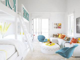 缤纷白色卧室设计