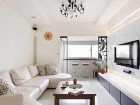 舒适简约宜家风 98平三居纯白色的洁净空间