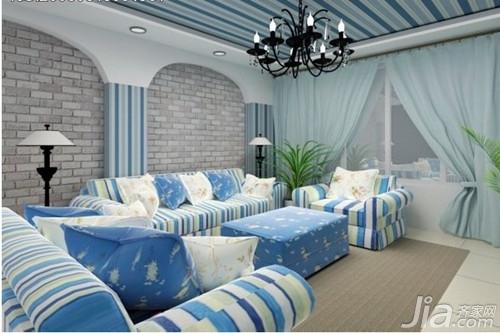 地中海风格客厅可以贴墙砖么 地中海家居装修风格浪漫来袭