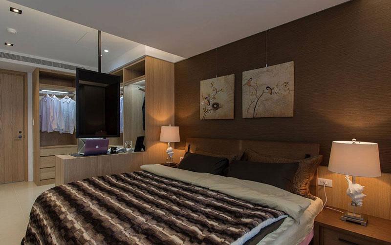 北欧简约卧室设计效果图