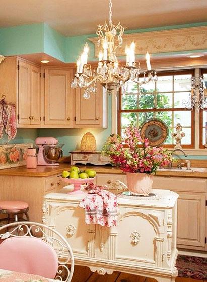清新可爱风格厨房
