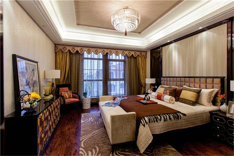 10-15万100平米中式二居室装修效果图,新中式 两室一图片