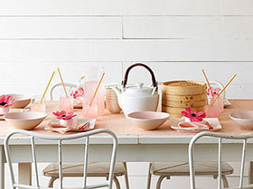 遇见小清新 12个粉嫩系小清新餐厅设计