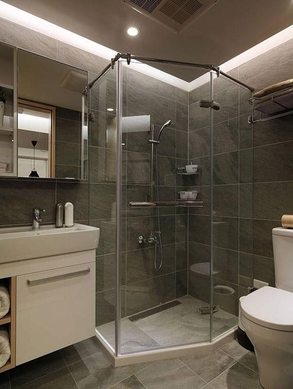 北欧清新淋浴房设计图片