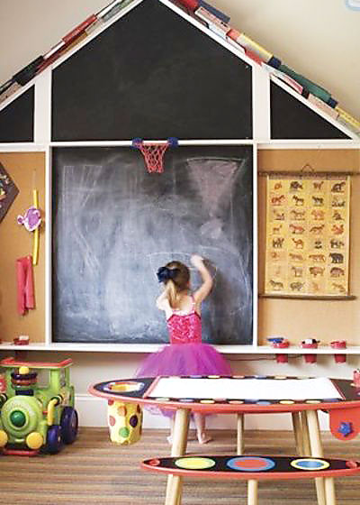 创意儿童房涂鸦黑板墙