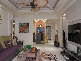东南亚风格二居室110平米装修图片