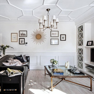 欧式风格二居室100平米设计图纸