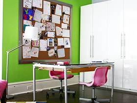 蓝色绿色装点书房 10图装点清新书房
