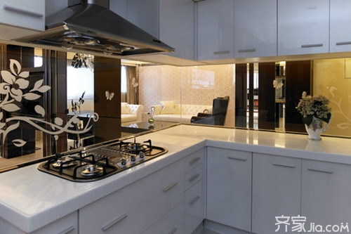 开放式厨房隔断效果图 打造完美家居空间图片
