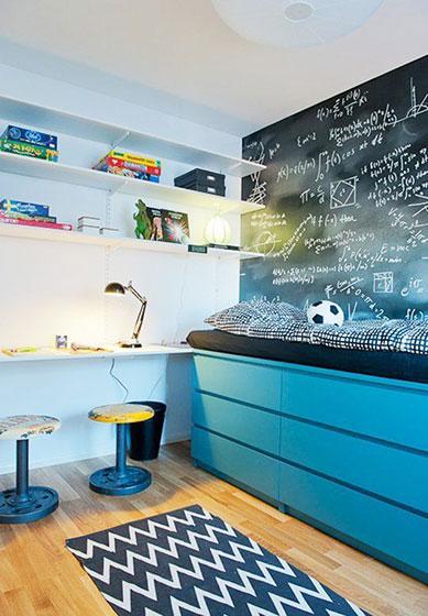 蓝色儿童房设计