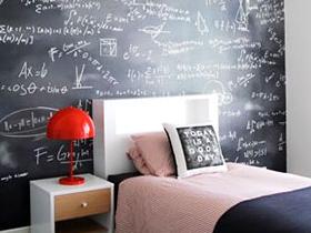 黑板裝飾臥室 12款個性床頭背景墻