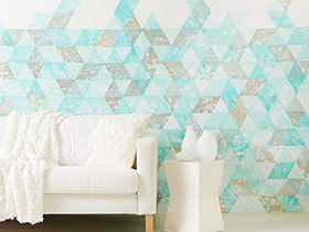 几何色块墙面 13图装扮个性客厅