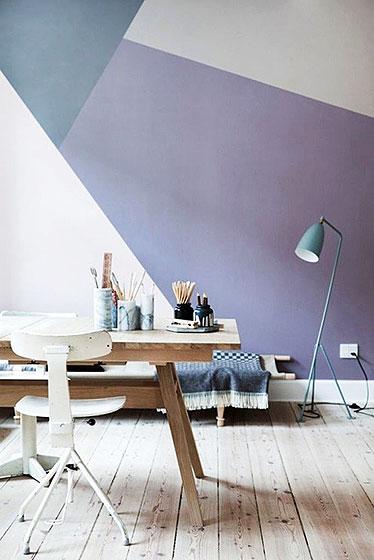 紫色系客厅背景墙
