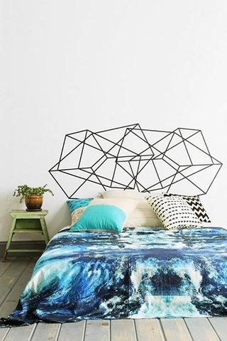 清爽蓝色床上用品
