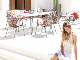 小清新室外组合餐桌椅
