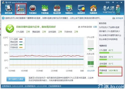 cpu风扇转速多少正常 cpu风扇转速决定电脑cpu的寿命长短