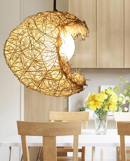 自然温馨藤编灯具设计