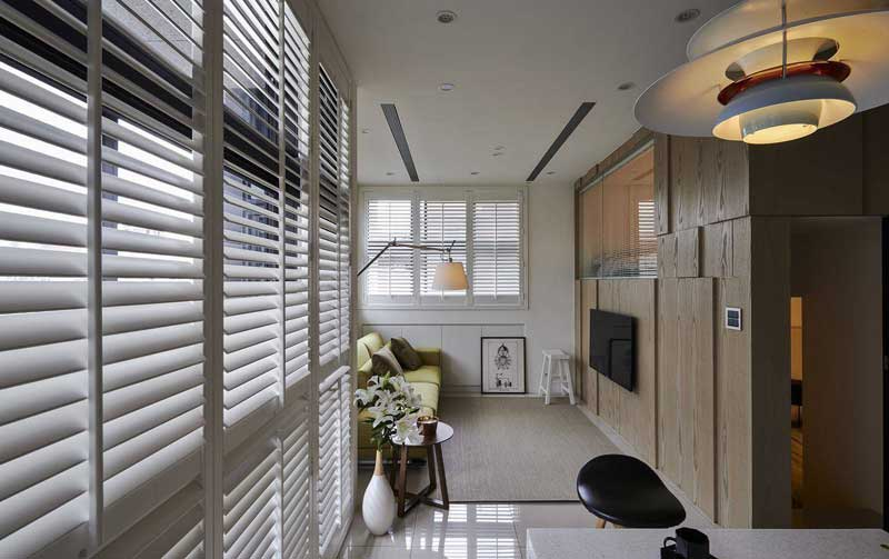 混搭风格二居室60平米装修效果图