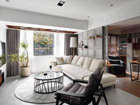 自然工业风混搭两居室装修 超级舒适的视觉感