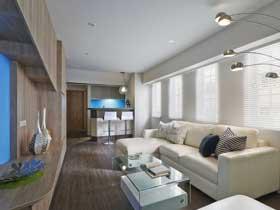 清新简洁宜家风 狭长式公寓实景图