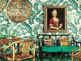 热带丛林走进家 11款热带植物客厅壁纸