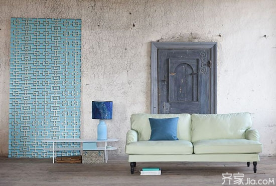 创意布料上墙 别样的墙面装饰