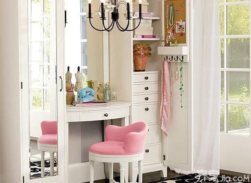 带梳妆台的衣柜 一体式衣柜高清图片