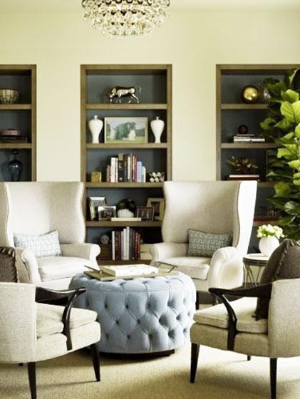 淡蓝色欧式客厅茶几