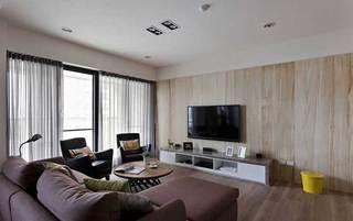 北欧温馨电视背景墙设计图片