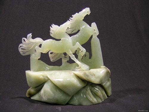 中国玉雕花卉纹样